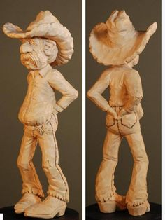 caricature curving sculpture