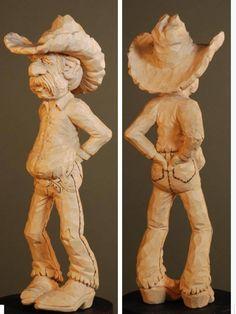 caricature curving sculpture
