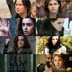 Divergent Harry Potter Vampire academy Twilight Percy Jackson Hunger games Maze runner<< Are you kidding me? Twilight is all about how you need a guy and what am I gonna do without a guy. Movie Quotes, Book Quotes, Quotes Quotes, Film Meme, Citations Film, Fandom Quotes, Bon Film, Book Memes, Girls Rules