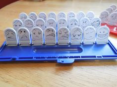 "10/23: ""Feelings Guess Who""... This game could benefit from pictures of the children in the classroom making different facial expressions."