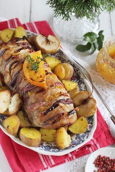 Ha narancs, akkor legyen mai is - ezúttal nem sütibe került, hanem hús készült vele. Szeretem a gyümölcsök... Pork, Food And Drink, Favorite Recipes, Meat, Chicken, Kale Stir Fry, Pork Chops, Cubs