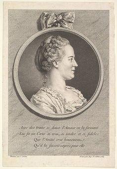 Portrait of Madame de Pompadour | Artist: Augustin de Saint-Aubin | 1764 | Metropolitan Museum of Art | Accession Number: 1986.1029.2