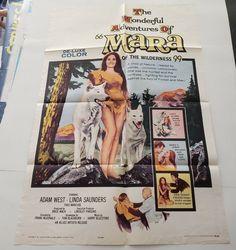 MARA OF THE WILDERNESS 1965 Original Movie Poster One Sheet 27x41 Adam West Denver Pyle, Adam West, Original Movie Posters, Love Stars, Man In Love, Wilderness, The Past, Art Prints, The Originals