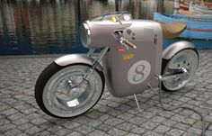 The Monocasco concept bike designed by Art-Tic is an electric version inspired by the famous original Ossa monocasco bike of Santiago Herrero.