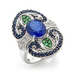 Rarities Multigemstone Sterling Silver Ring