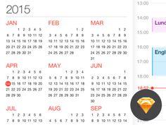 Calendar Sketch on UI Space