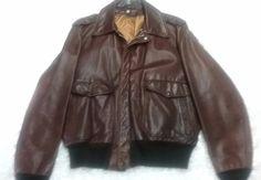 Schott Vintage Brown Leather Bomber Jacket XL to XXL  #Schott #Casual