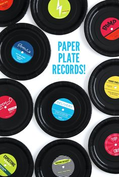 Check out these DIY Paper Plate Records using this cute printable from @PagingSupermom