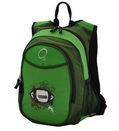 The Kids All-In-One Backpack With Cooler - Green Football is the perfect  solution for active kids. The front pocket of the backpack is an insulated  lunch ... e0d6db44d1913