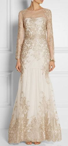 Elegant Lace Mother of the Bride Dress | Long Sleeve Evening Gowns for mother-of-the-bride | ---- Our American company specializes in custom evening dresses for mother-of-the-bride. We can also help you recreate any expensive couture evening gown from a photo at a reasonable cost | For pricing and more details please contact us at www.dariuscordell.com/featured/custom-made-mother-of-the-bride-evening-dresses/