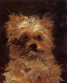 Head of a Dog - Edouard Manet