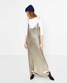 Image 1 of LONG SHINY DRESS from Zara