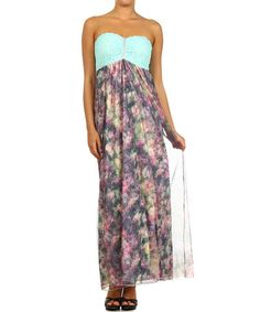 Navy Lace Strapless Maxi Dress by J-Mode USA Los Angeles #zulily #zulilyfinds