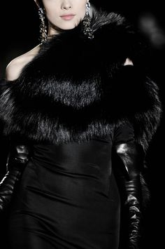 Dsquared2.  I could only really love this if that is faux fur.  Is there any hope of that?  Fashion should not cause pain.