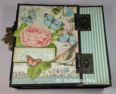 March 2015 G45 Botanical Tea - 8x8 Mini Album for Design Team Audition 2015 by Ashmita Roy