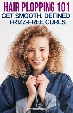How Plopping Hair Makes Styling Curls Easier Those into plopping their curly hair overnight love the Spring Hairstyles, Curled Hairstyles, Easy Hairstyles, Straight Hairstyles, Curly Hair Tips, Curly Hair Care, Long Curly Hair, Curly Hair Plopping, Curly Hair Overnight