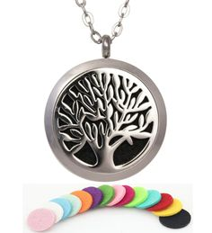 "Tree of Life 316L Stainless Steel Essential Oil Diffuser Necklace Pendant Jewelry 22.8"" Chain. This engraveable essential oil diffuser necklace allows you to enjoy aromatherapy everywhere!. Stainless steel pendant and included free 21"" necklace chain are hypoallergenic. Locket features magnetic closure for extra security of your essential oil diffuser pad. Improve your health, increase your energy and sleep better. How to use: Open the locket and apply 3-5 drops of essential oil to a pad..."