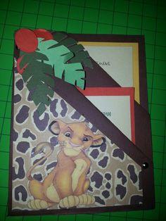 Открыток, объемная открытка король лев