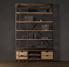 Online Shop American country style wrought iron racks do the old wooden Sideboard iron staircase display shelves retro bookshelf French Furniture, Industrial Furniture, Wood Furniture, Industrial Bookshelf, Bespoke Furniture, Rustic Industrial, Modern Furniture, Furniture Design, Bookcase Shelves