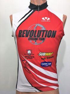 06f6cc83b Voler Mens L Race Raglan Sleeveless Bike Jersey 3 4 Zip Revolution Cycling  Team
