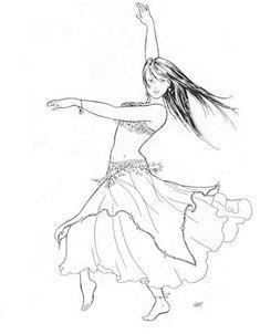 AF13 -  Najlas Accent Skirt Pattern (Belly Dance) via Etsy