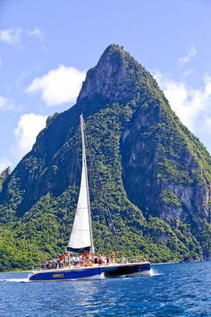 St. Lucia - The Caribbean Let's go sailing by that huge rock .. http://www.earnwithaleshia.com