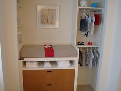 changing table in the closet for small rooms