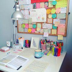 67 Ideas Study Desk Organization Diy Dorm Room For 2019 Study Table Organization, Bedroom Organization Diy, School Organization, Study Space, Desk Space, Study Areas, Study Room Decor, Bedroom Decor, Study Corner