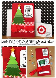 People LOVE getting gift cards.it means they get to select the gift themselves. Christmas Tree Gift Card Holder, Coach Christmas Gifts, Christmas Gifts For Nurses, Grandparents Christmas Gifts, Christmas Party Favors, Christmas Tree With Gifts, Christmas Gift Baskets, Christmas Stocking, Kids Christmas