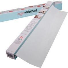 Magic Whiteboards™ Magic Whiteboard 15 Sheet Roll- held on by static cling. Pretty much the best idea ever.