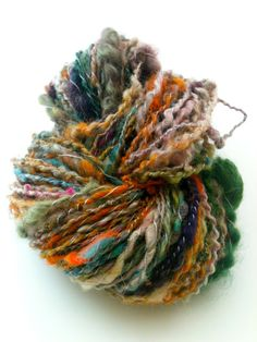 Miloknows' crazy yarn uses a little bit of everything for a LOT of style.