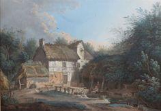 Vistas de aldeias. 1768. Aquarela. Alexis Nicolas Pérignon, o Velho (Nancy, França, 1726 - 1782, Paris, França).