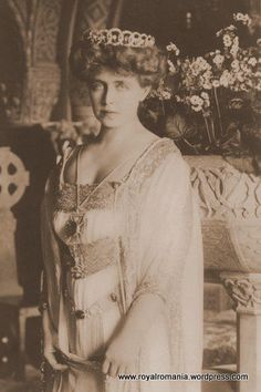 The Vampire Queen Marie of Romania Mysterious Transylvanian Haunting Portrait with Crosses in Gothic Interiors, Original Rare Postcard Princess Victoria, Queen Victoria, Romanian People, Maud Of Wales, Romanian Royal Family, Gothic Interior, Vampire Queen, Princess Alexandra, Royal Families