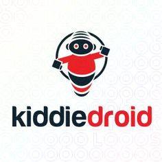 Creative Robot Mascot Logo Design For Sale On StockLogos   Kiddie Droid logo