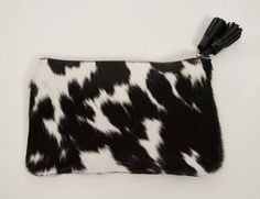 Real Leather Cow Hide Clutch