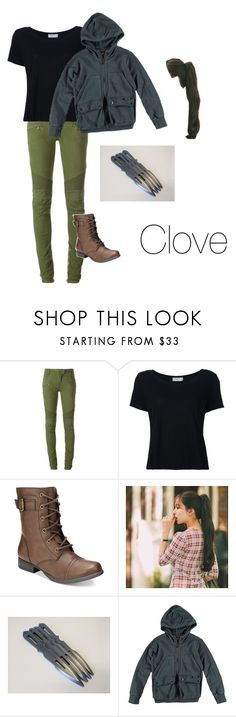 """Clove- The Hunger Games"" by brookeb279 ❤ liked on Polyvore featuring Balmain, Frame, American Rag Cie, GABALNARA and Finger in the Nose"