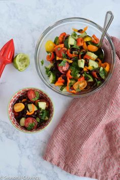 This Skinny Cucumber and Tomato Salad is a healthy and easy to prepare option for busy summer days. Paleo, Whole-30 and Gluten-Free.