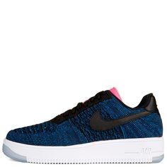 wholesale dealer 960f4 75c00 Nike W Af1 Flyknit Low Black blue white Nike Air Force, Nike Free