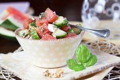 Who knew you could actually do something with watermelon other than just eating it all by itself on a hot summer day. I made this today, and the flavors are so yummy together! I would have never thought to mix feta cheese with watermelon, but it works! It makes for a great afternoon snack, as it satisfies any sweet cravings.