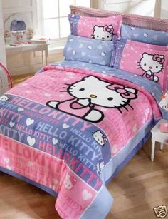 $164.90 Hello Kitty Smile Girls Pink Comforter Bedding Set Full 8pcs  From Sanrio   Get it here: http://astore.amazon.com/allaboutyourbed-20/detail/B004BJJN8Q/177-6876614-3185061