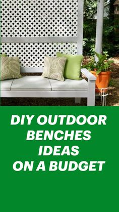 Diy Furniture Projects, Home Projects, Home Crafts, Diy Home Decor, Outdoor Rooms, Outdoor Living, Outdoor Benches, Outdoor Decor, Backyard Projects