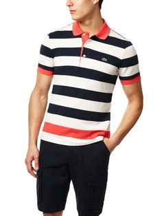 Lacoste Stripe Polo