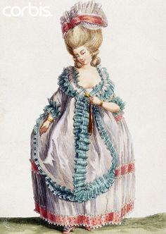 1778, A lady's 'Polonaise aux Ailes' dress.