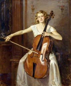 ♪ The Musical Arts ♪ music musician paintings - Wilfred de Glehn | Portrait of Florence Hooton, 1936