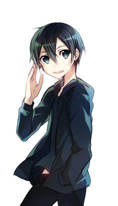 Kazuto Kirigaya (by abec) Kirito Sword, Sword Art Online Kirito, Kirito Kirigaya, Kirito Asuna, Arte Online, Online Art, Yandere Games, Sao Underworld, Manga Anime