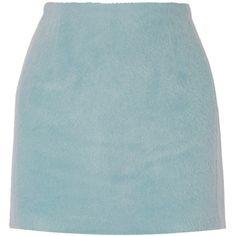 Acne Studios Kyte alpaca and wool-blend mini skirt ($400) ❤ liked on Polyvore featuring skirts, mini skirts, acne, blue, short skirts, wool blend skirt, acne studios, blue skirt and blue mini skirt