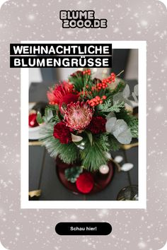 🎁🎄Cozy Christmas: Lass den Weihnachtszauber bei dir einziehen oder versende eine blumige Überraschung an deine Liebsten Christmas Mood, Christmas Wreaths, Holiday Decor, Home Decor, Christmas Jewelry, Advent Season, Decorating, Christmas, Decoration Home