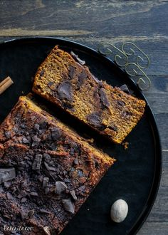 This Paleo Chocolate Chunk Pumpkin Bread is a good-for-you twist on your favorite fall treat. This easy recipe is the best I've made. It's chocolatey, moist, and made with coconut flour and almond butter!