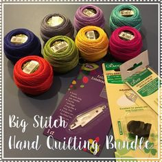 How to do Big Stitch Hand Quilting with Perle Cotton tutorial Hand Quilting Patterns, Quilting Tips, Quilting Tutorials, Machine Quilting, Quilting Projects, Sewing Projects, Craft Patterns, Sewing Tips, Sewing Ideas