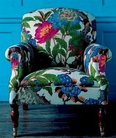 Common Mistake When Choosing an Accent Chair, Maria Killam -Don't Make this Common Mistake When Choosing an Accent Chair, Maria Killam - Linnet Embroidered Armchair Funky Furniture, Home Decor Furniture, Painted Furniture, Chair Upholstery, Upholstered Furniture, Upholstered Accent Chairs, Chair Fabric, Poltrona Floral, Poltrona Bergere